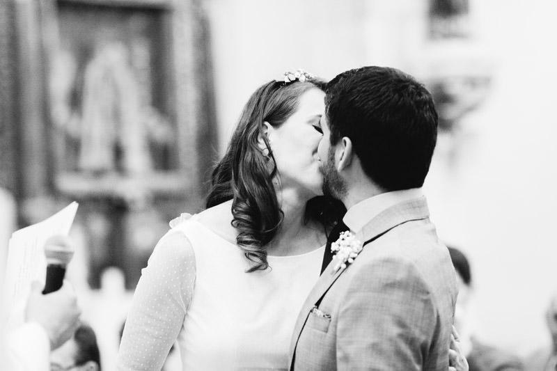 primer beso de casados